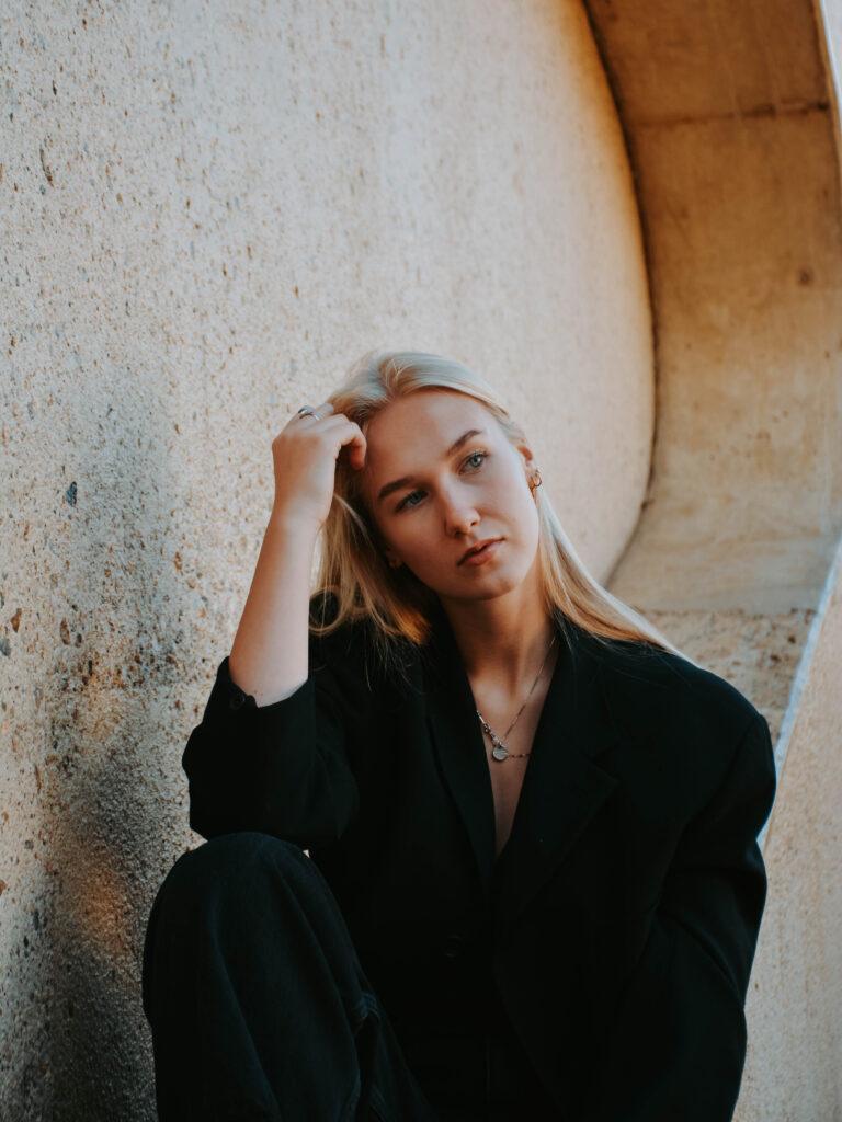 Portretfoto van model Linde